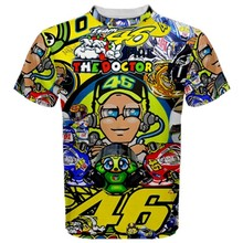 MotoGP ROSSI T shirt VR46 Moto GP Motorcycle Cotton T-shirt Summer Sportswear
