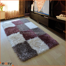 Box Shape High Pile Polyester Floor carpet and rugs