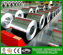 Hot rolled Galvanized steel coil with gold supplier used in folding door and keel