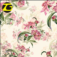 Best price 100 polyester woven pleated floral print organza fabric for girl dress