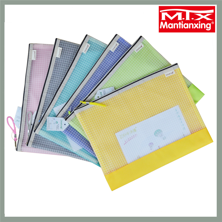 MTX wholesale water proof cheap wholesale plastic bags zipper file folder bag