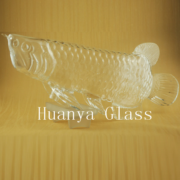 HY-0089 Animal fish shaped handcraft glass wine bottle/red glass wine bottles/glass wine bottle