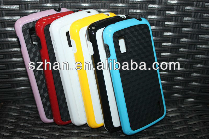 New Dual Color TPU +Diamond Hard back Case Cover for Google LG Nexus 4 E960