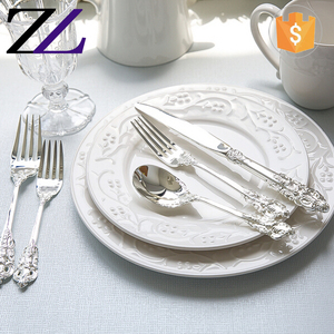 Handmade bulk elegant cutlery set 304 stainless steel gold plated flatware silverware set wholesale