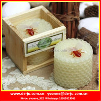 Honeycomb Beehive Shaped Pillar Natural Beeswax Candle