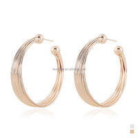 Wholesale New Arrival Beautiful Basketball Wives Fashion Gold Hoop Earrings