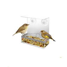 Wholesale Tranquility Window Plastic Bird Feeder in Premium Lucite Acrylic. (No more squirrels) AS07
