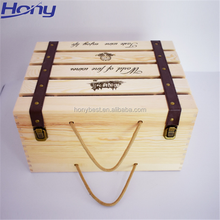 Recycled Cheap Wooden Crates Boxes with Logo for 6,12 Custom Wine or Beer Bottles