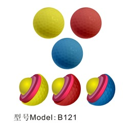Wholesale Promotional Customized Logo Four Piece Driving Range Golf Ball / Wholesale cheap colorful golf balls B121
