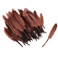 100Pcs/Lot Brown DIY Fluffy Goose Feathers Clothing Hat Accessories Fancy Decoration Free Shipping