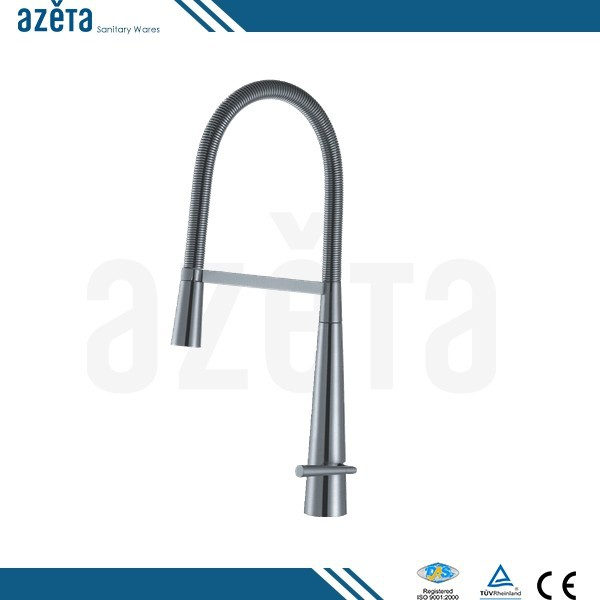 Pull Out Design Brass Kitchen Hot Cold Water Mixer Tap