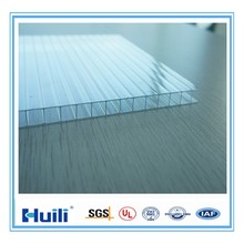Huili Clear 8mm Rectangular Polycarbonate Anti-fog Hollow Sheet for Greenhouse Use in Cold Weather