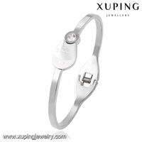 51535 Xuping italian custume jewelry polishing surface lovely bangle white gold color