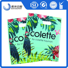 custom dit-cut packaging bags PE material recycled plastic bags for shopping