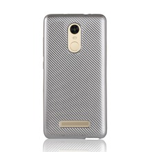 Free Sample Carbon Fiber Texture Phone Case for Xiaomi Redmi Note 3 Back Cover