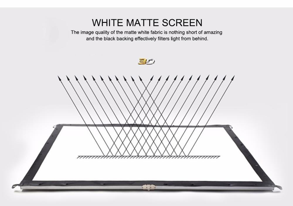 200 inch fast fold projection screen