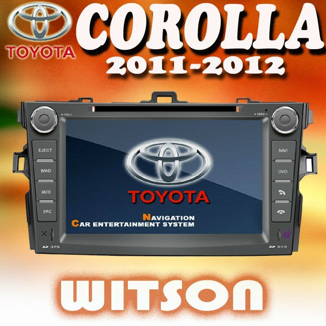 WITSON TOYOTA COROLLA 2011-2012 DOUBLE DIN CAR DVD STEREO with USB port and iPod ready
