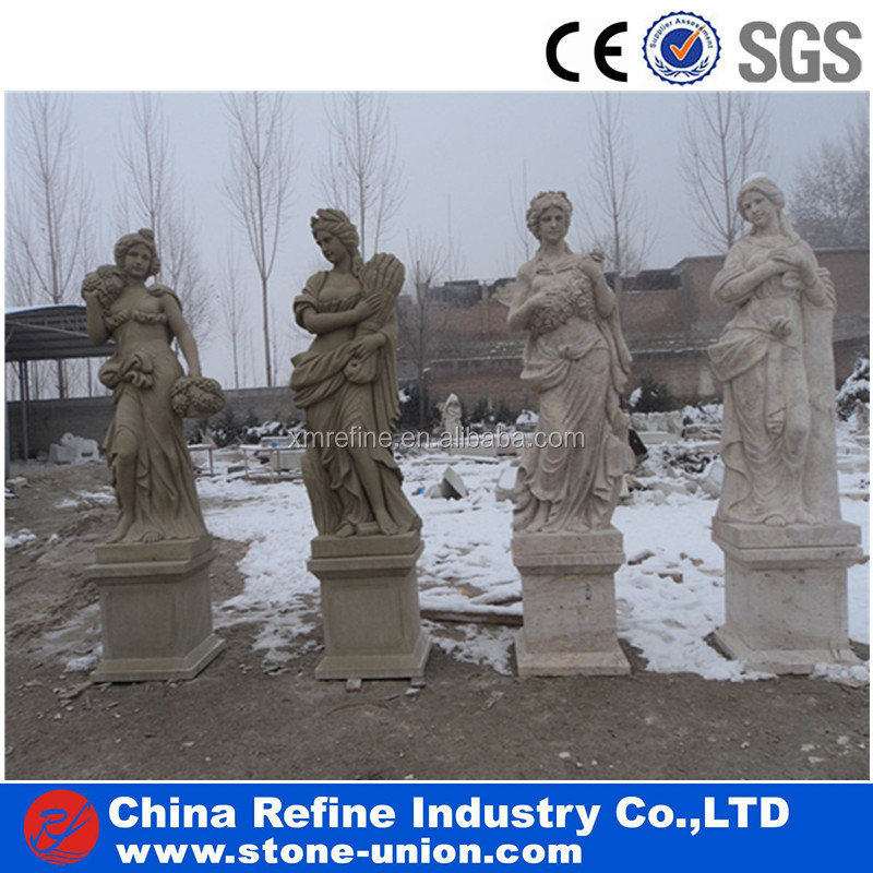 four beauty marble statue