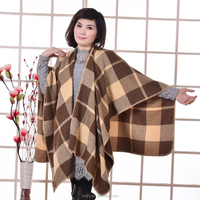 new design factory direct Hot selling Embroidered fur battery heated shawl