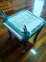 New material PP Plastic colorful Folding adjustable drawing table for kids