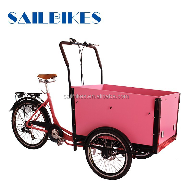 battery operated cargo tricycle with pedals