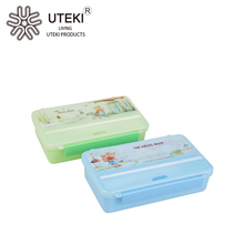 High quality plastic vacuum lunch box with cutlery set 800ml