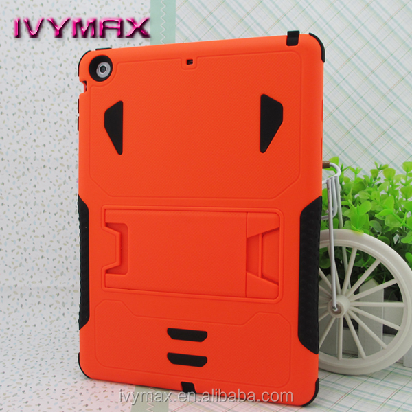 Alibaba express heavy duty armor rugged hybrid kickstand protective cover case for ipad air 9.7 inc tablet pc cover
