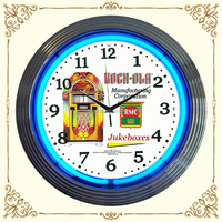 New design best-selling dali melting neon wall clock