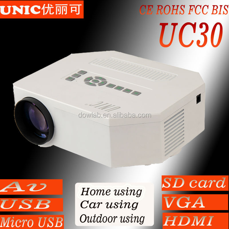 New hot mini projector UC30 mobile power supply power 1080p support game projector,movie projector,video projector