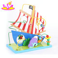 New hottest intelligent kids wooden bead maze toy with boat design W11B170