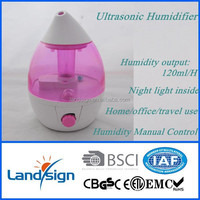 2015 Hot sale ultrasonic humidifier type air humidifier for home/office RD606 portable mini humidifier