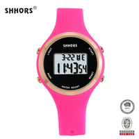 SHHORS Very Hot Selling Fashion Digital Silicone Latest Girls Watches