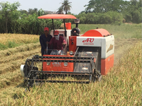 mini grain harvester combine AU2.0I-B