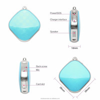 Diamond Necklace GPS Tracking A9 Mini Personal GPS Tracker for Kids /Pets/Elderly/Car/Personal Stuff with GPS+LBS+WIFI