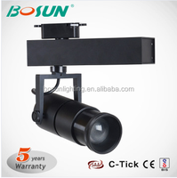 Beam Angle Changeable 35W Black White Color LED Track Light with Museum