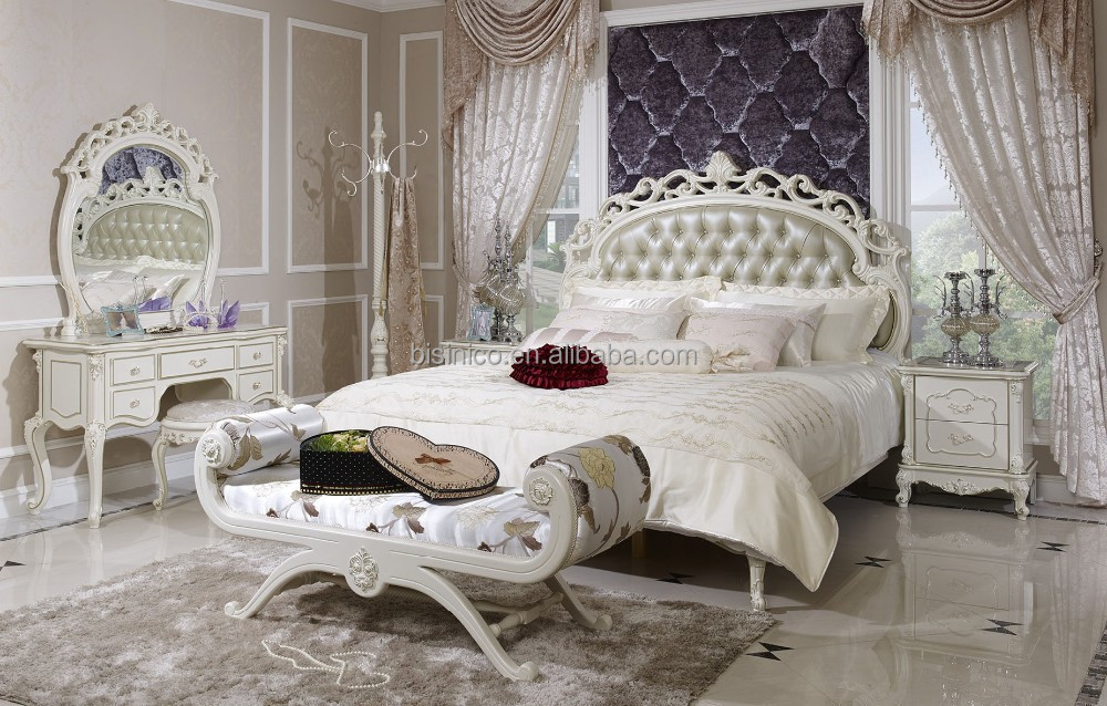 White Leather Bedroom Furniture,High Quality Leather Bedroom Set ...