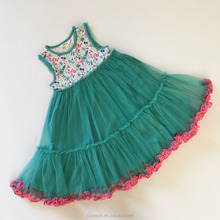 New style fashion children girls princess dance party tutu dress hot sale kids flower lace Pettiskirt