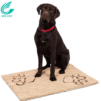wxccf microfiber chenille dog food door mat