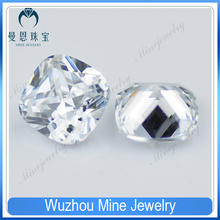 Top Quality Fertilizer square pure white cubic zirconia