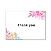 Beautiful Elegant Floral Design Thank You Greeting Cards Smooth And Glossy Note Cards With Blank Greeting Space