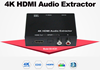 4K small audio Extractor HDMI input to 2 channel analog stereo audio output