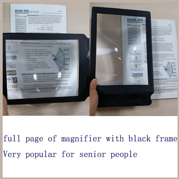 BHM-10 full page magnifier , led lens