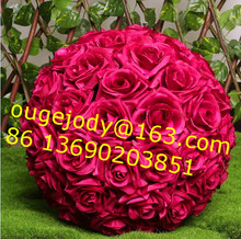 Hanging artificial rose flower ball decorative kissing ball