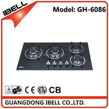 Long lifetime kitchen appliance 4 burners best glass type built in gas stove / gas hob / gas cooker