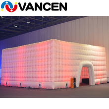 2017 hot sale giant air building inflatable wedding tent with colorful led light