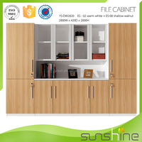 Latest Wooden Furniture Designs Made In China Luxury Office Wooden Cabinet YS-ED06FC
