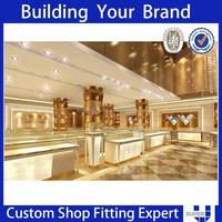 Professional Customized High End Quality Luxury Jewelry Shop Design