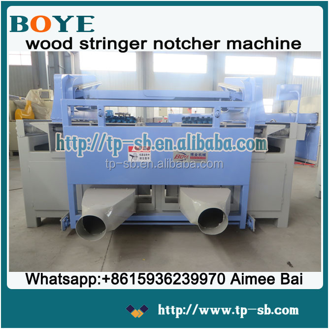 Wood pallet stringer wood groove notching cutting machine for sale