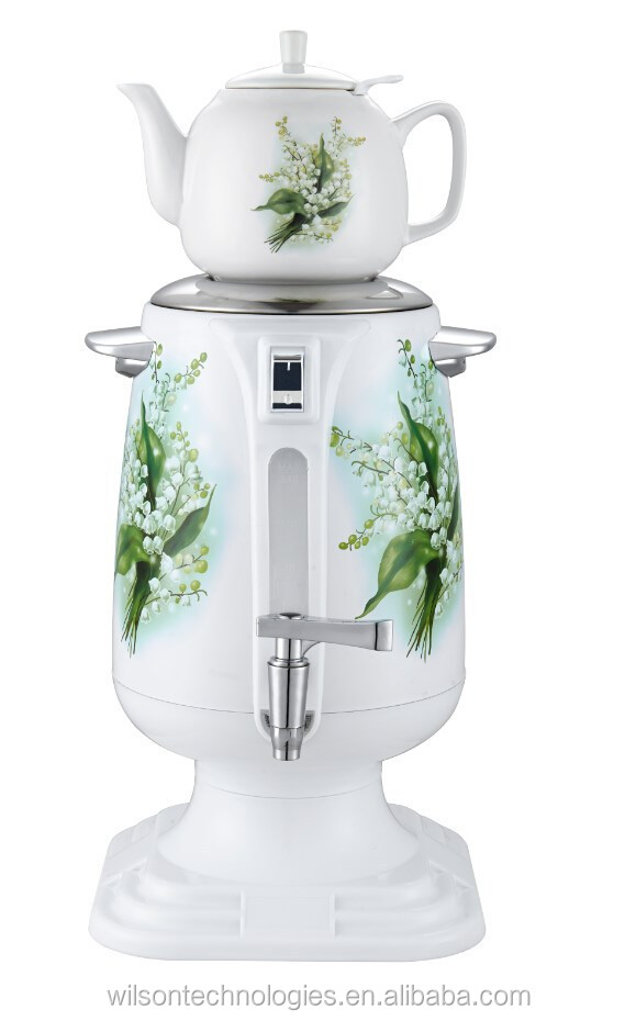 4.0l stainless steel electric samovar with pocerlain teapot CE,ROHS,GS