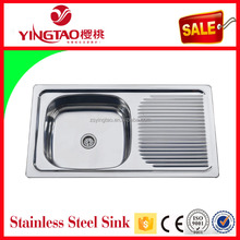 Names of kitchen single sink unit,polular Paraguay Uruguay stainless sink